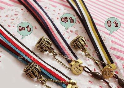 【eWhat億華】 韓國 Flower mark 海軍風 復古皇冠手腕帶 【紅白條紋】 TR15 TR200 可用【1】