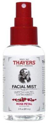 【雷恩的美國小舖】Thayers 金縷梅 化妝水系列-玫瑰化妝水-噴霧款 3oz