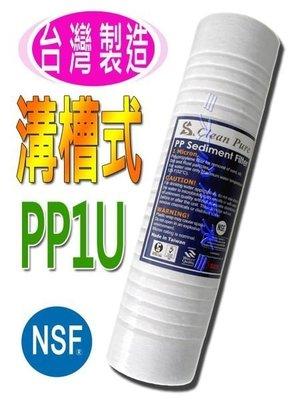 (大心淨水)NSF認證Clean Pure~第三道10英吋PP1微米溝槽式濾芯,淨水器/過濾器/RO/逆滲透