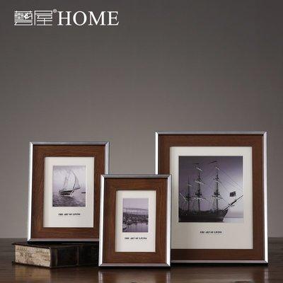 〖洋碼頭〗美式實木相框 歐式客廳臥室咖啡色木制相架擺臺 樣板間軟裝配飾品 ywj422
