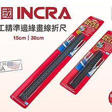 【無思木作】美國INCRA 精準邊緣畫線折尺 洞洞尺 15cm 美國製 木工