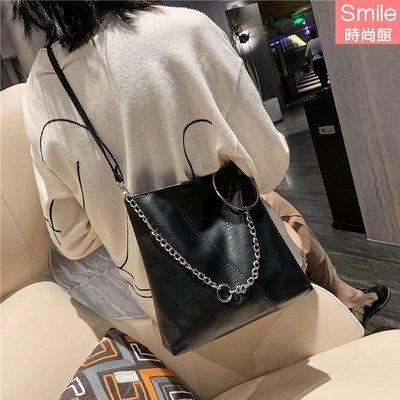 【P224】SMILE-休閒搭配.時尚百搭斜挎大容量單肩包