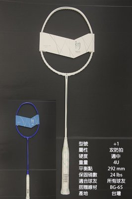 (台同運動活力館) 初應 TRUEiiN IN100【+1拍】【攻防拍】羽球拍【所有球友適用】