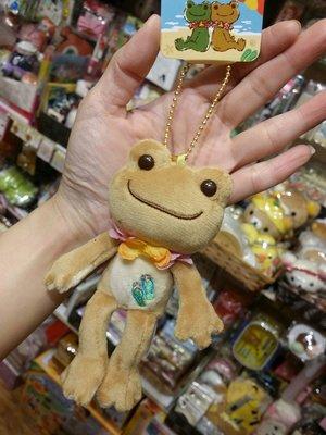 100% 原裝日本 超可愛 Pickles the Frog 明日蛙 小青蛙 青蛙仔 毛毛 小公仔吊飾 公仔吊飾 Frog Plush keychain