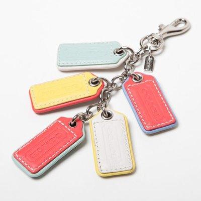 【美國精品館】COACH 62736 MULTI LOZENGE HANGTAGS CHARM (彩色) 皮革吊牌鑰匙圈~1,280含運