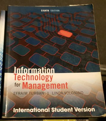 INFORMATION TECHNOLOGY FOR MANAGEMENT  /2手