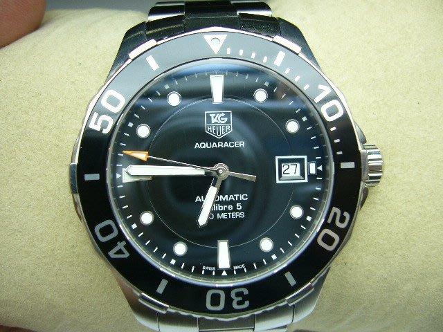 [吉宏精品交流中心]TAG HEUER 豪雅 AQUARACER 300米 黑面 機械錶(盒單齊全)