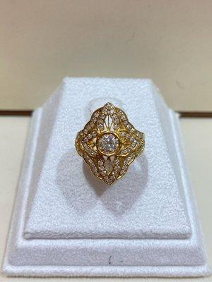 總重天然70分鑽石戒指,復古豪華設計款式,超值優惠商品35800元,鑽石超白超閃亮!搭配750/18K金戒台!