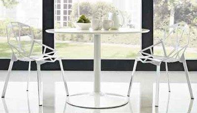 【南洋風休閒傢俱】-8155鋁椅+75cm圓玻璃桌、餐廳用椅 民宿用椅 居家用椅 造型椅 時尚椅(522-7)