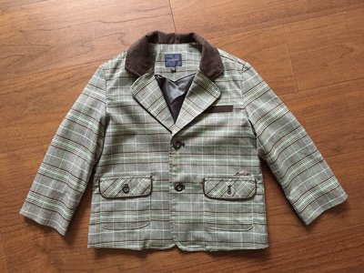 韓國MERLION男童格紋外套
