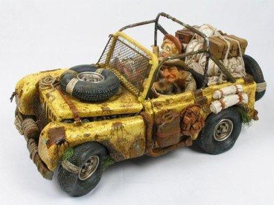 點點蘑菇屋 歐洲進口 精緻法國社會寫實派設計師FORCHINO系列擺飾-探險之旅 汽車 免運費 此款請先詢問有無現貨