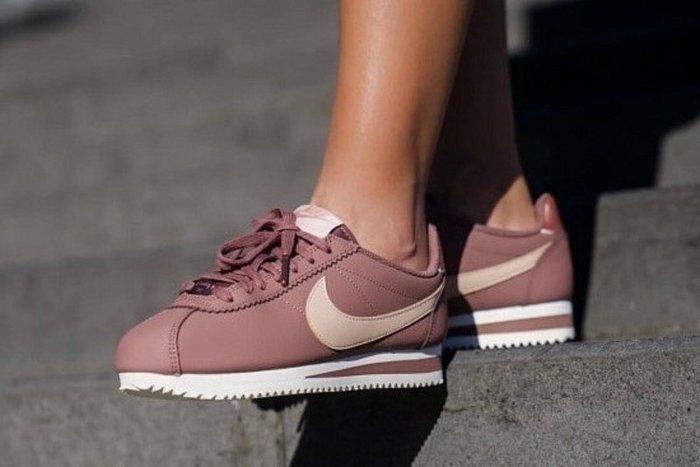 XinmOOn Nike W Classic Cortez Leather AV4618-200 紫 玫瑰金 阿甘鞋 女