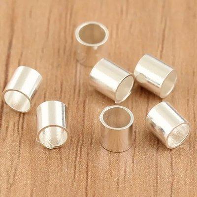 嗨,寶貝銀飾珠寶* 925純銀飾 DIY串珠配件☆直徑3.5mm短管 路路通串珠 配件☆客製化