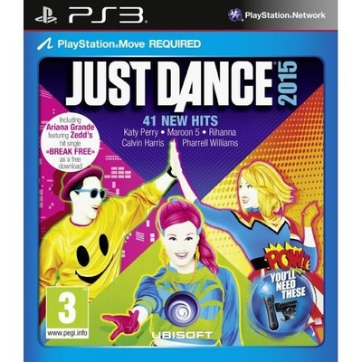 全新未拆 PS3 舞力全開2015 (攝影機與MOVE必須) -英文版- Just Dance 2015