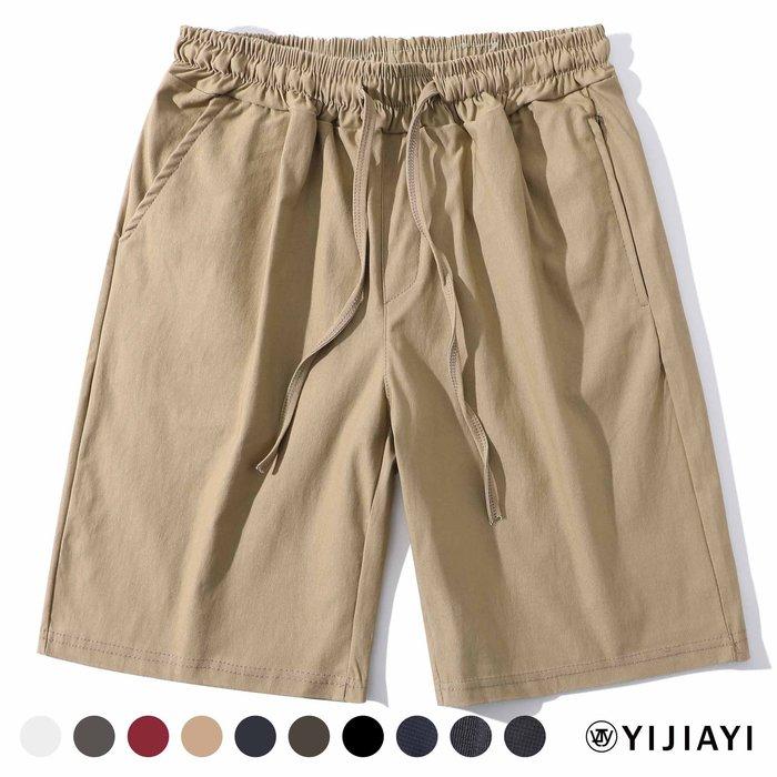 【預購7天】【YIJIAYI】彈力 百搭 口袋 拉鍊 質感 休閒 短褲【A廠】(A-222)