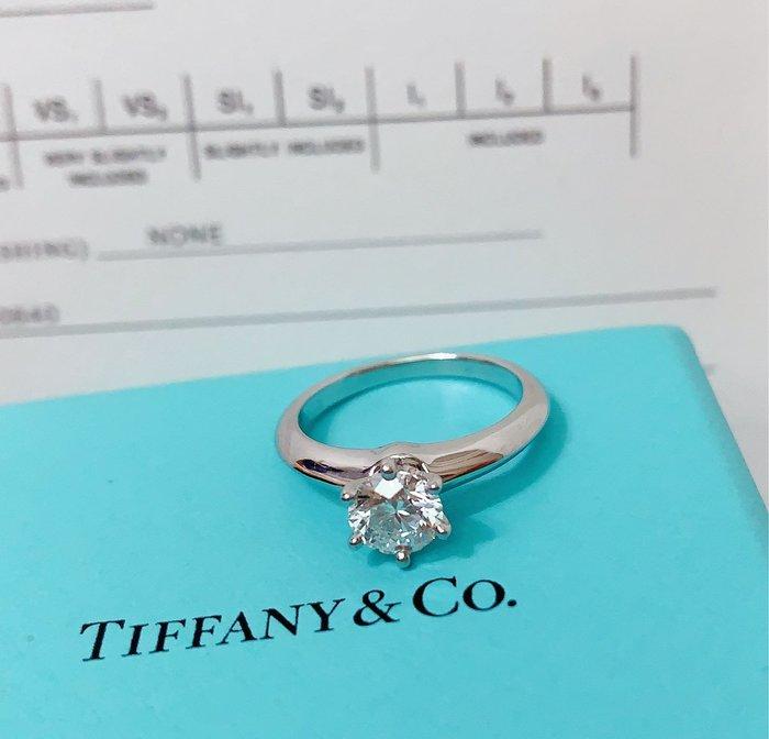 小巴黎二手名牌~Tiffany 經典 六爪鑽  婚戒 71分  Gcolor  3EX頂級切工 有證書 盒裝