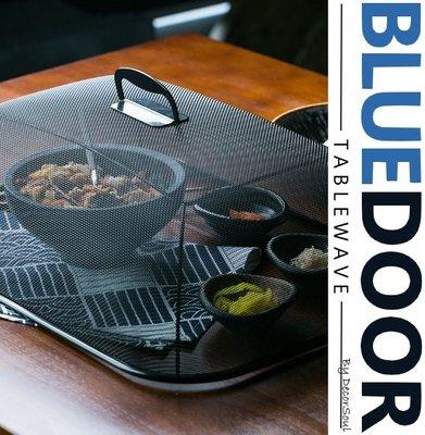 BlueD_ 不鏽鋼 黑色 菜罩 食品罩 餐桌罩 網狀長方形 透氣通風 防蠅 防蚊 食物籠 個性 創意設計 裝潢 北歐風
