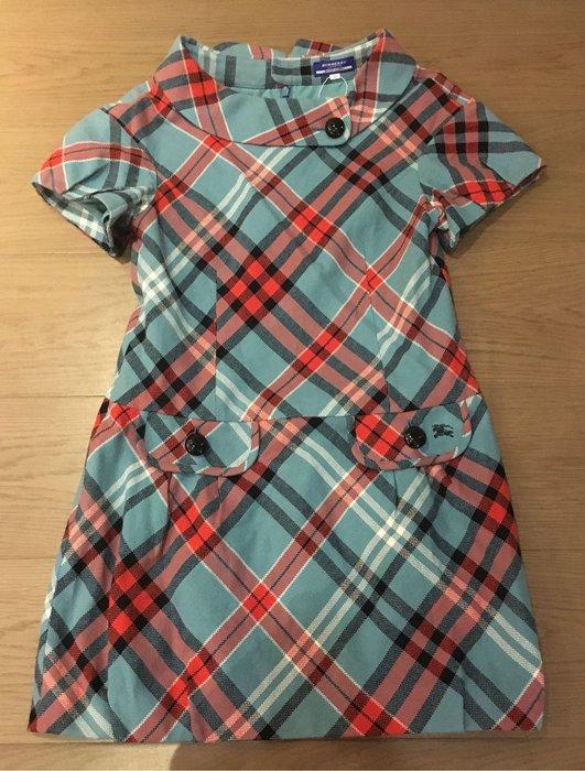 日本 Burberry 藍標 紅綠格洋裝