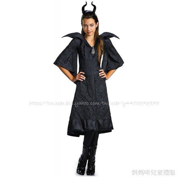 妍媽咪兒童禮服出租~迪士尼黑魔女大童造型萬聖節生日派對變裝Halloween