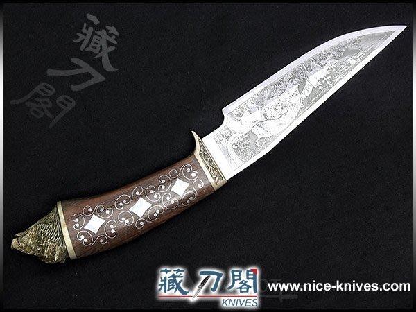 《藏刀閣》歐美手工刀-山豬不銹鋼鐵刀