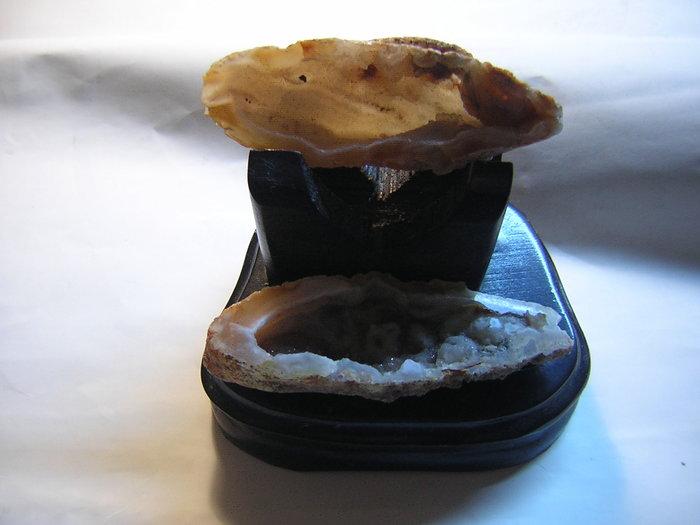 【采鑫坊】瑪瑙聚寶盆~原礦品《直購品》附特製木座~