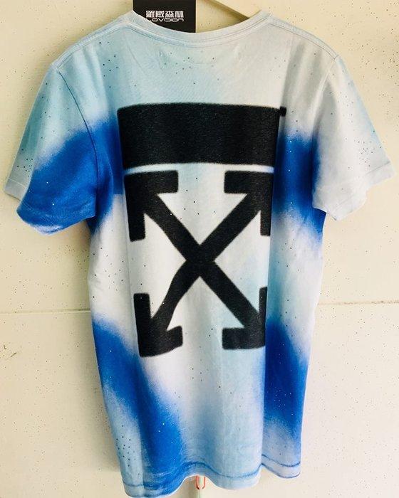 [ 羅崴森林 ] 現貨Off-White FW18蒂芬妮藍鑽水晶噴霧箭頭💎短T恤