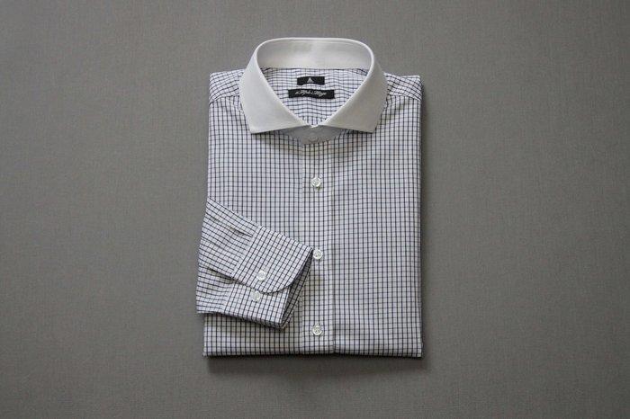 SIMPLE IMAGE(手工製作)英國紳士白領格紋襯衫a691