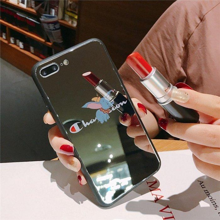 奇奇店-玻璃鏡面蘋果x手機殼女6/6s/8/xr/xsmax可愛iphone7plus潮iphonex#與眾不同 #個性