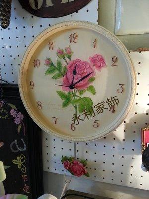 玫瑰花立體造型鐘