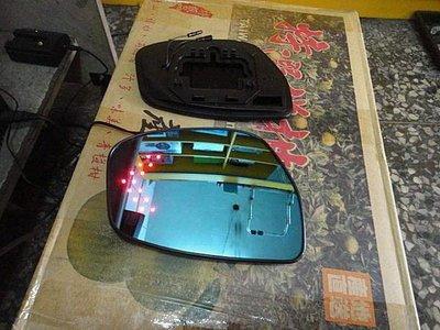 (柚子車舖) 日產 SUPER SENTRA TIIDA LIVINA 鉻鏡LED方向燈後視鏡片 (專用卡榫式)