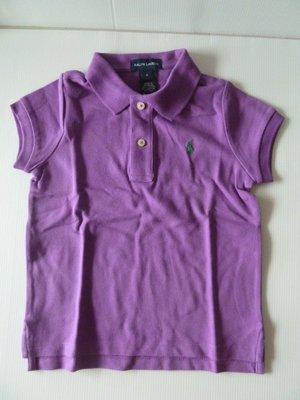 購於美國,全新Ralph Lauren女童紫色短袖 POLO 衫, 美國女童尺寸6, 已拆標但未下過水,介意者請勿購買