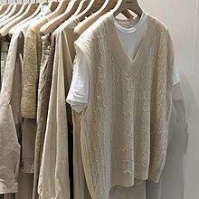 ❤Princess x Shop❤簡約V領麻花紋寬鬆針織馬甲百搭上衣TS22-59-16