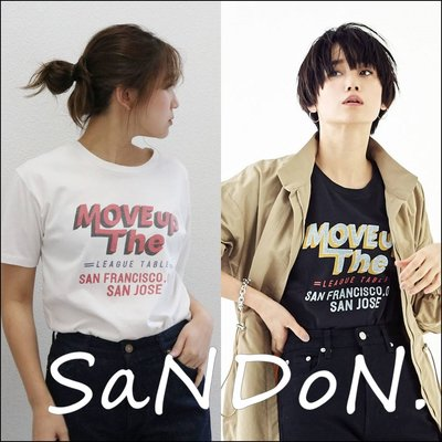 SaNDoN x『UNGRID』春季新品 MOVE upロゴTee/ 長度剛剛好手感超舒服LOGO短TEE 190215