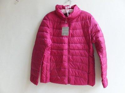 專櫃 NET  超輕羽絨 90%羽絨 立領 羽絨衣/ 羽絨外套 - 桃紫紅-XL -全新