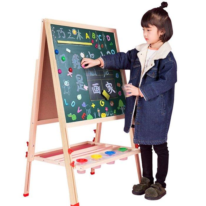 千夢貨鋪-兒童畫板雙面磁性小黑板支架式家用寶寶畫畫涂鴉寫字板畫架可升降#黑板#白板#畫畫板#熒光板#七彩熒光板