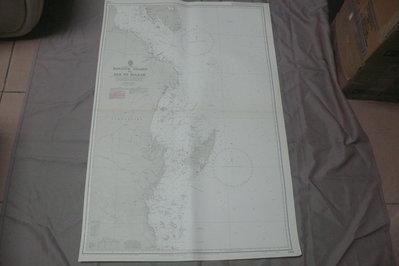 紫色小館90-1-DEPTHS IN METRES-航海圖-FANJOVE ISLAND TO DAR ES SALAA