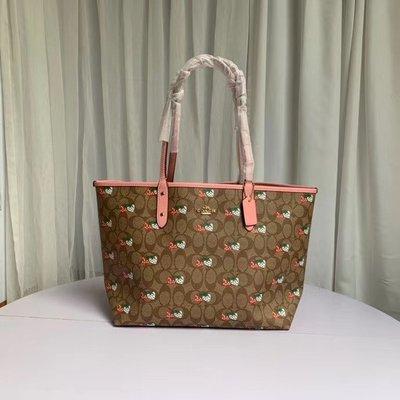 【小怡代購】 全新 COACH 91515 新款女士手提購物袋  單肩包 托特包 超低直購