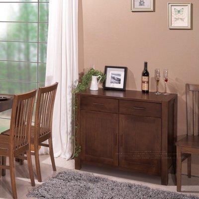 INPHIC-外銷咖色橡木露腿2門2抽餐邊櫃 實木搓色