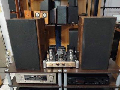 [ 雅悅二手音響 ] 早期雅瑟 USHER 8吋低音 二音路大書架喇叭