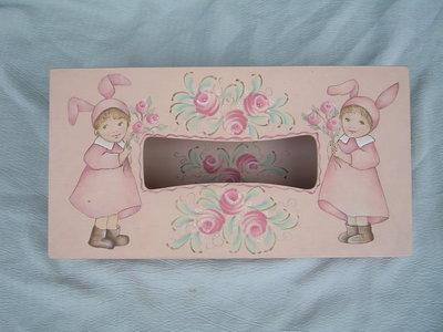 [ 丁銘畫廊 ] 面紙盒 - 純手工木器彩繪 原作品