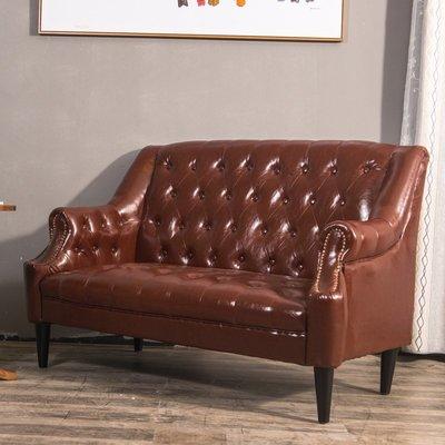 懶人沙發歐式雙人三人沙發咖啡廳沙發老虎椅美式單人皮藝沙發書房臥室沙發