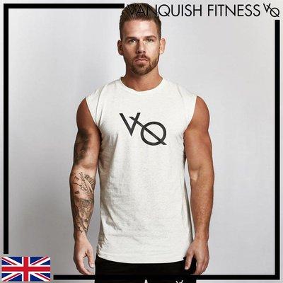 白 VANQUISH SLEEVELESS T-SHIRT 棉質透氣耐用無袖T恤 背心 運動 健身