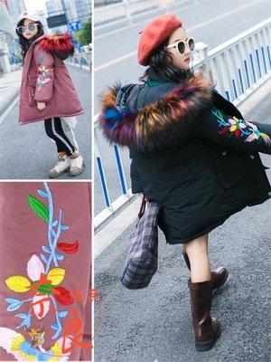 大尺碼女童羽絨棉服外套韓版冬裝中長款加厚洋氣潮
