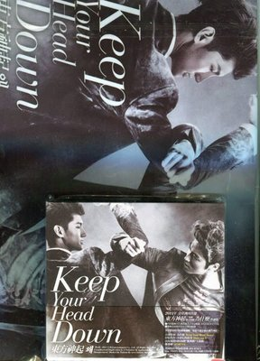 【嘟嘟音樂坊】東方神起 - Keep Your Head Down + 文件夾  (全新未拆封)