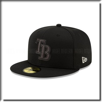 【ANGEL NEW ERA 】MLB 2019 球員周 坦帕灣 光芒 59FIFTY 黑全封 穿搭 低調 棒球帽