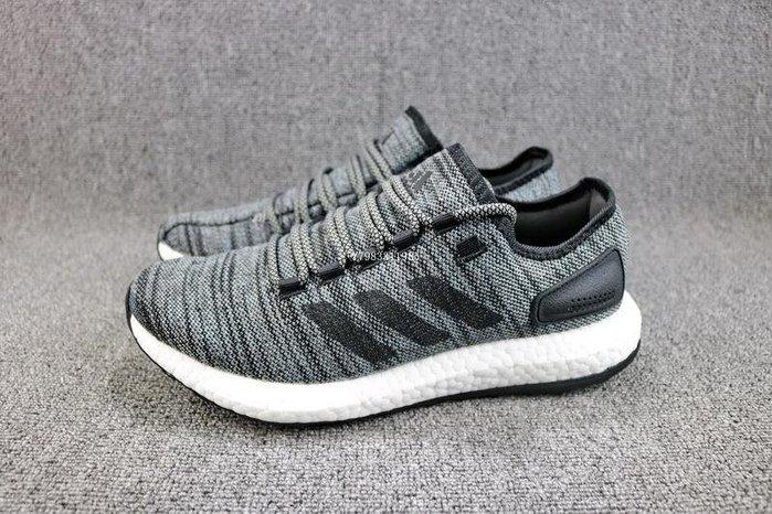 Adidas Pure Boost 黑灰 百搭 編織 休閒運動慢跑鞋 男鞋 S80787