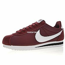 """Nike Classic Cortez """"酒紅白""""經典復古 休閒滑板鞋 807472-601 男女鞋"""