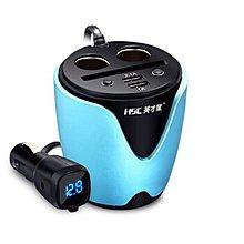 【台灣現貨含運】英才星HSC-200D 杯充獨立開關 USB車充 杯座杯架 汽車點菸器車充擴充點煙器擴充座