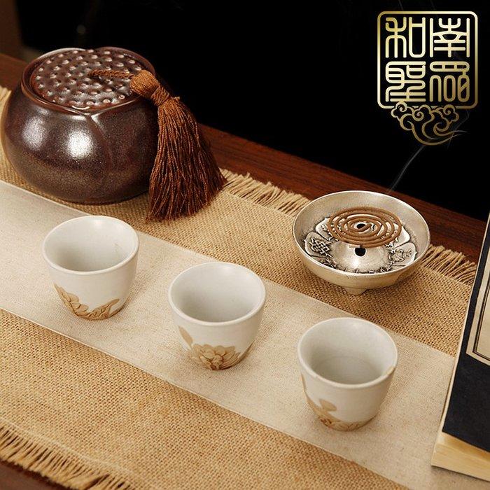 宏美飾品館~中式家居裝飾香道茶道用具席墊香爐墊布藝棉麻茶席禪意茶桌旗茶具