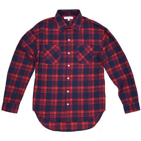 { POISON } SKATOPIA ZIPPER LONG SHIRT 厚實的格紋純棉 側開拉鏈格紋襯衫